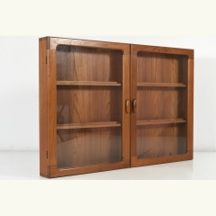 FLAT WALL-CUPBOARD - TEAK - SOLID - DENMARK - AROUND 1970