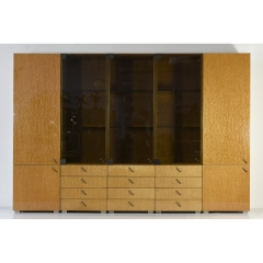 CABINET SYSTEM - BIRDSEYE MAPLE - SAPORITI - GIOVANNI OFFREDI - ITALY - AROUND 1975