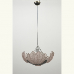 PENDANT LIGHT - ART DECO - PRESS GLASS