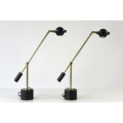 TABLE LAMP - BRASS - ITALY - 1980