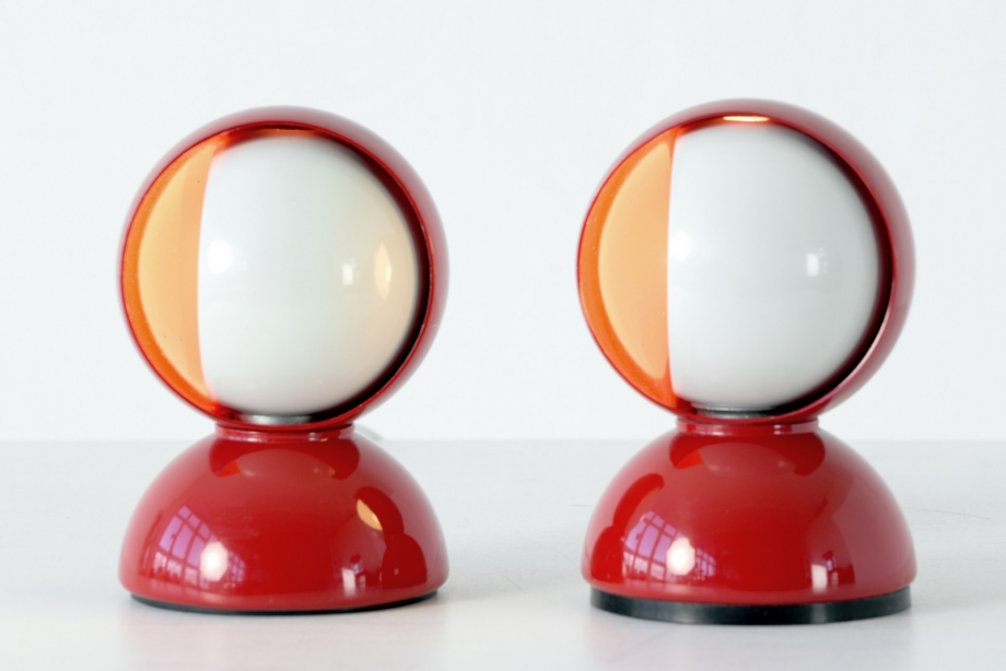 PAIR OF TABLE LAMPS - ECLISSE - VICO MAGISTRETTI - ARTEMIDE - ITALY - 1967