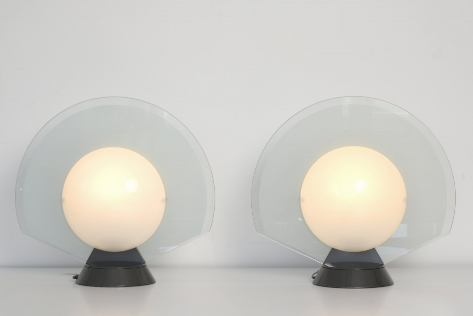 10941 Pair Table Lamps Tikal 1555 arteluce itali