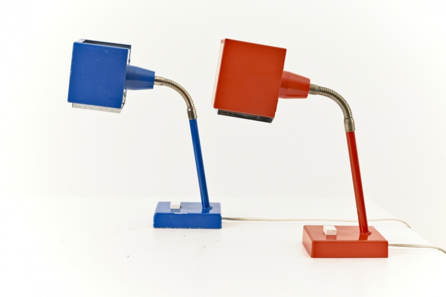 PAIR OF TABLE LAMPS - KUBUS - HANS AGNE JAKOBSSON - ELIDUS - SWEDEN - AROUND 1970