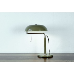 TABLE LAMP - QUICK 1500 - OLIVE GREEN - ALFRED MÜLLER - B.A.G. TURGI - SWITZERLAND - 1935