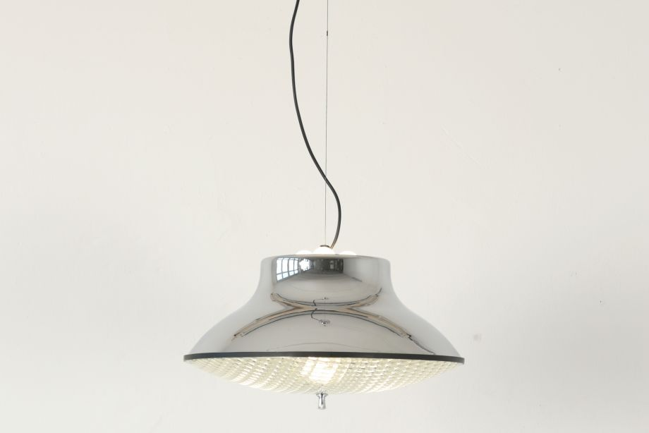 SUSPENSION LIGHT - STRUCTURAL GLASS - ITALY - AROUND 1965
