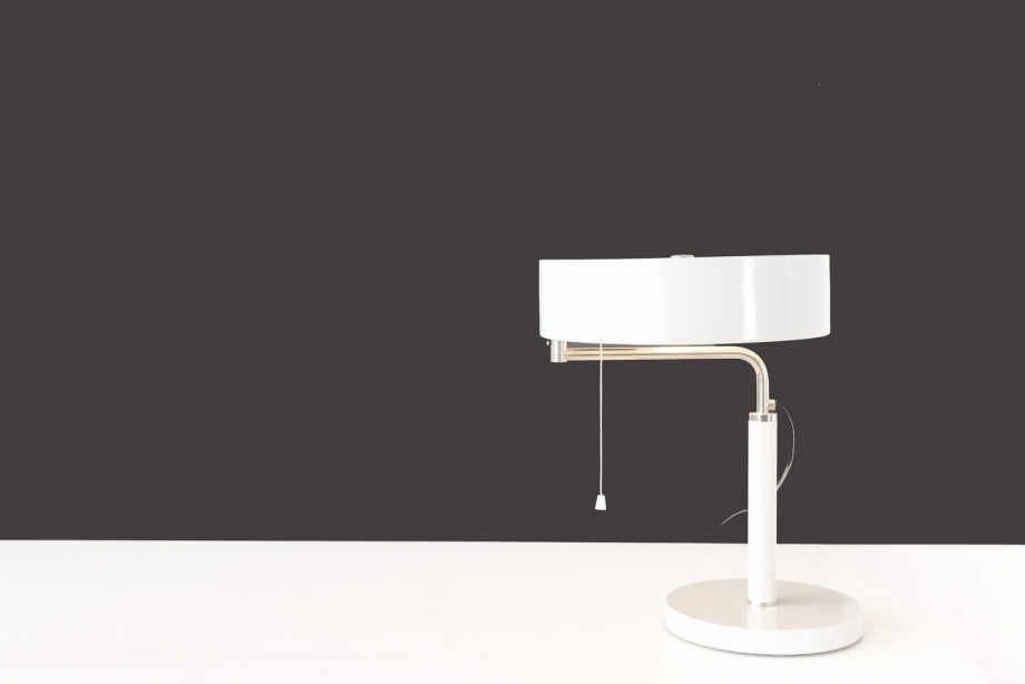 TABLE LAMP - QUICK 1500 - LIGHT GRAY - ALFRED MÜLLER - B.A.G. TURGI - SWITZERLAND - 1935