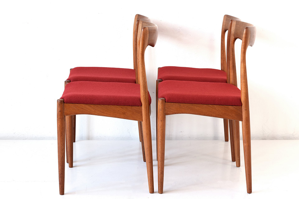 4 ARMCHAIRS - ARNE VODDER - VAAMO - DENMARK - AROUND 1960