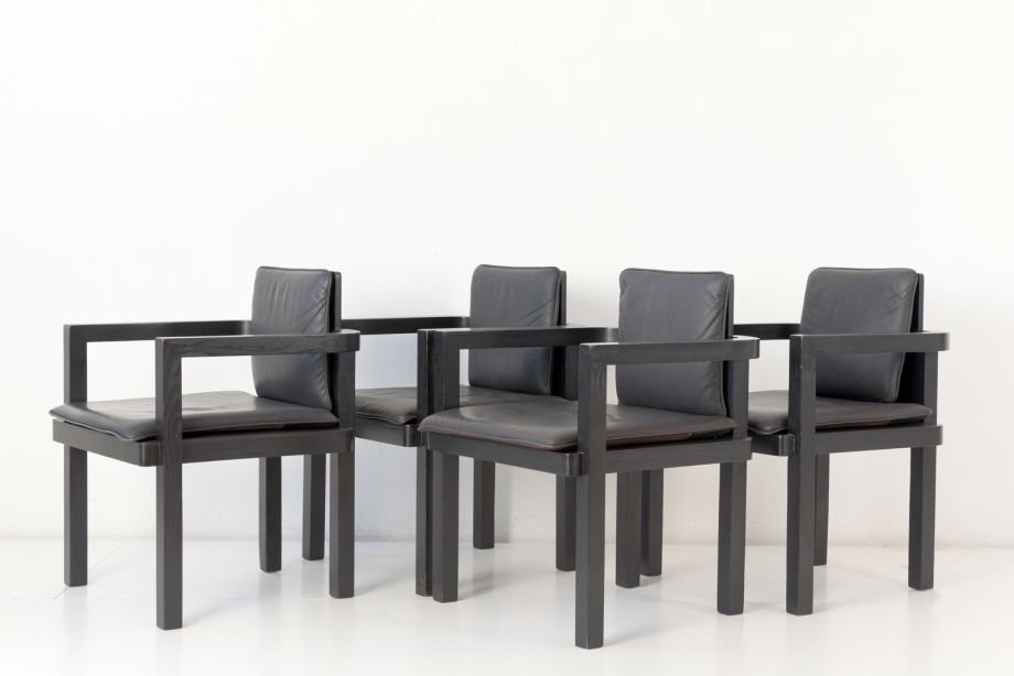 5 CHAIRS AND BENCH - D 51 - WALTER GROPIUS FOR FAGUS 1910 - TECTA - GERMANY - AROUND 2000