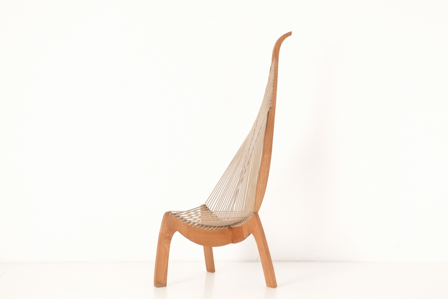 HARP CHAIR - VARIANT - ASHWOOD SOLID - SWITZERLAND - AROUND 1970