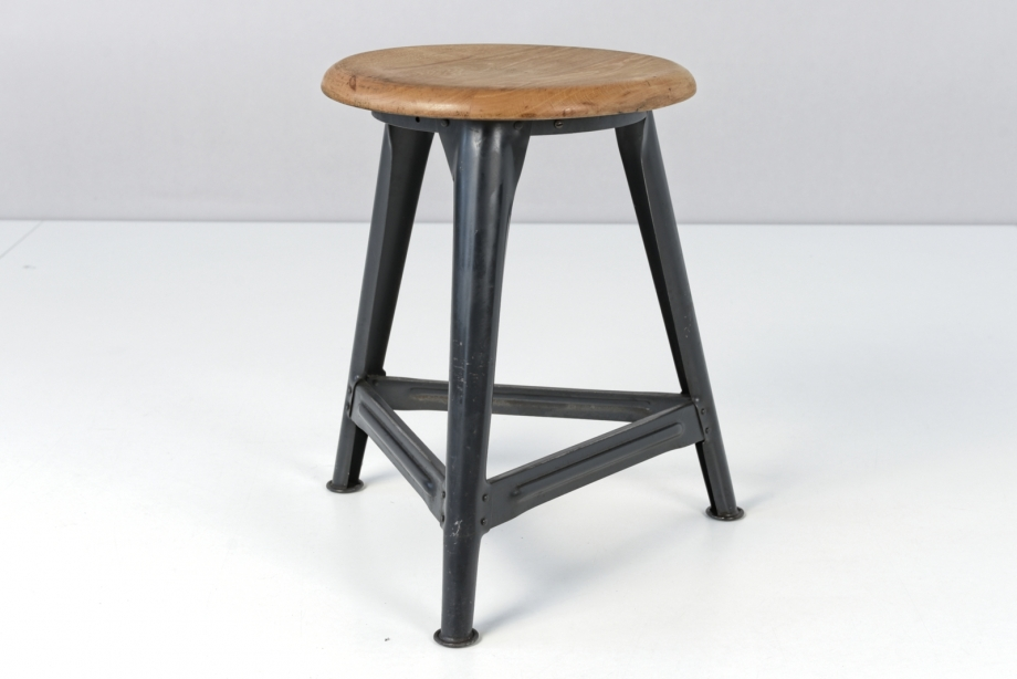 WORKSHOP STOOL - ROWAC - NORMAL SEAT HEIGHT - GERMANY - AROUND 1940
