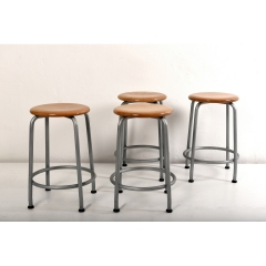 4 STOOLS - BASLER EISENMÖBELFABRIK - SWITZERLAND - AROUND 1950