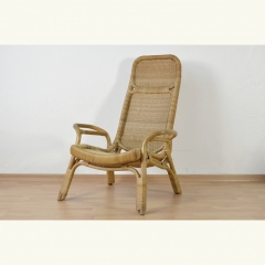 RATTAN EASY CHAIR - ITALY - 50s 60s