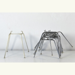 6 FRAMES - H-BASE LOW - 1 HIGH FRAME - WHITE - CHARLES UND RAY EAMES - VITRA - GERMANY - AROUND 1970