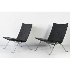 2 EASY CHAIRS PK 22 - POUL KJAERHOLM - AROUND 1965