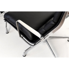 105614 softpad lounge chair ea438 ottoman ea423 charles eames usa 1969