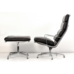 10562 softpad lounge chair ea438 ottoman ea423 charles eames usa 1969