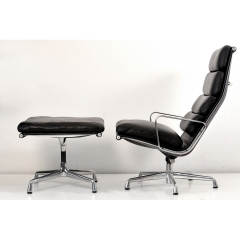 10563 softpad lounge chair ea438 ottoman ea423 charles eames usa 1969