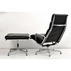 10564 softpad lounge chair ea438 ottoman ea423 charles eames usa 1969
