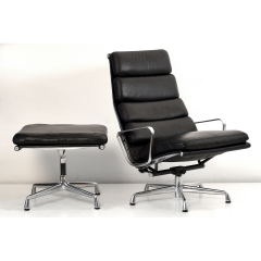 10567 softpad lounge chair ea438 ottoman ea423 charles eames usa 1969