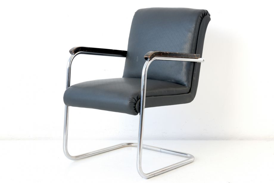 STEELTUBE ARMCHAIR - B 97 - ANTON LORENZ - THONET - GERMANY - 1934