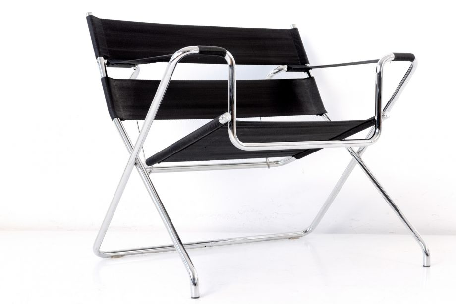 FOLDING ARMCHAIR - D 4 - MARCEL BREUER  - 1927 - TECTA - GERMANY -