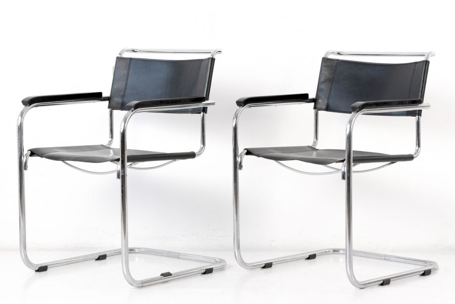 CANTILEVER CHAIR WITH ARMRESTS - S 34 - MART STAM - THONET - GERMANY - 1926