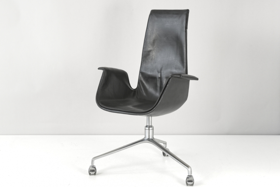 HIGH-BACK ARMCHAIR - TULIP - FK 6725 - FABRICIUS KASTHOLM - KILL - GERMANY - 1964