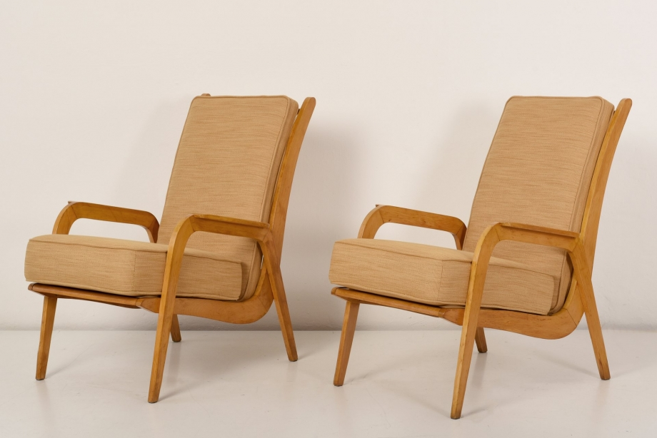 2 EASY CHAIRS - CEES BRAAKMAN - PASTOE - NETHERLANDS - AROUND 1951