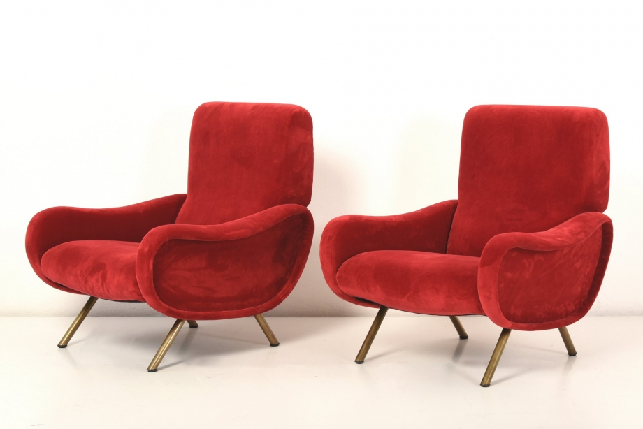 2 EASY CHAIRS - LADY - MARCO ZANUSO - ARFLEX - ITALY 1951