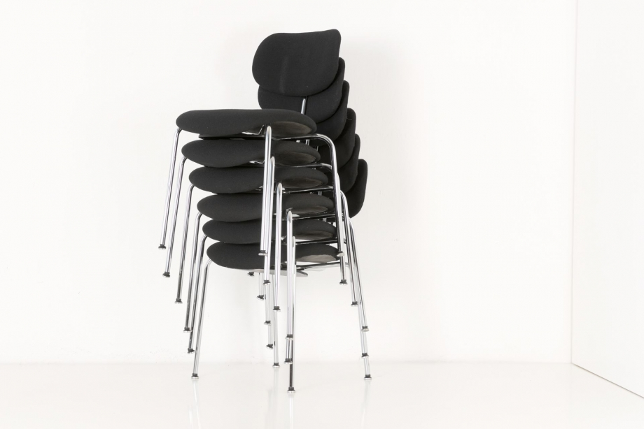 STACKING CHAIRS - SE 68 - EGON EIERMANN - WILDE + SPIETH - GERMANY - 1950