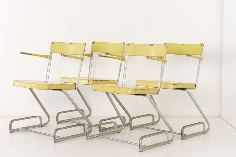 STACKING CHAIRS - ACCORDING TO FLORA STEIGER-CRAWFORD - SWITZERLAND - AROUND 1940