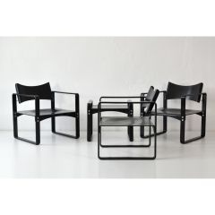3 EASY CHAIRS + 1 SIDE TABLE – VERNER PANTON – THONET