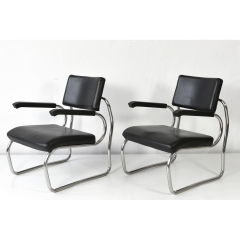 STEEL TUBE EASY CHAIR - SANT ELIA - GIUSEPPE TERRAGNI - 1936/2000