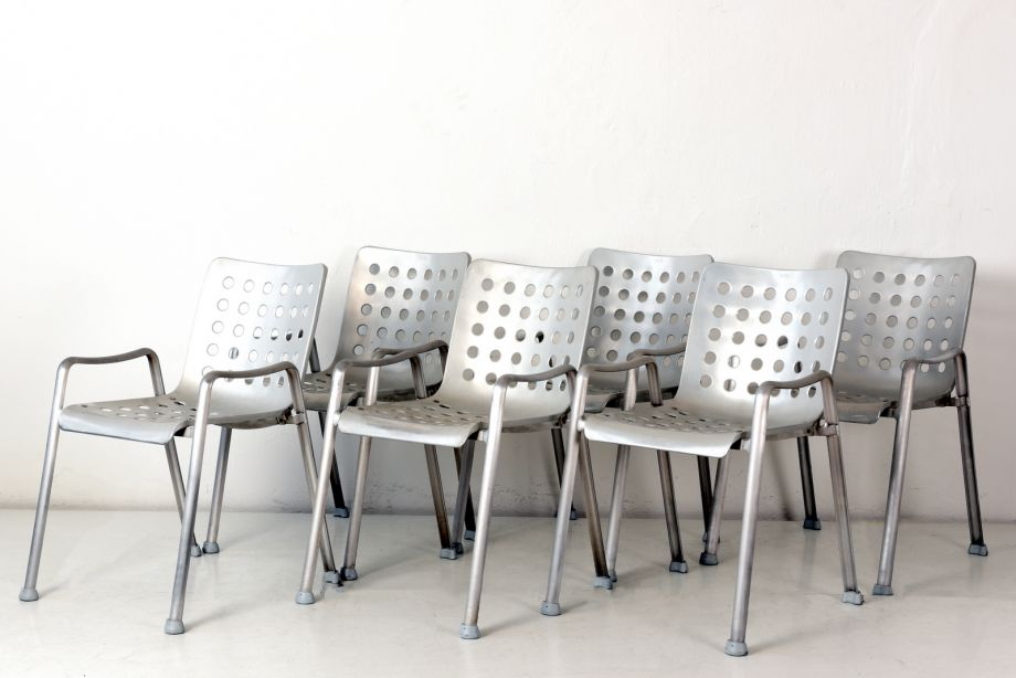 6 CHAIRS - LANDI - HANS CORAY - MEWA - SWITZERLAND - 1938