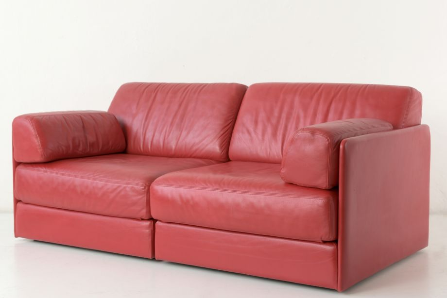 2-SEATHER SOFA - DS76 - LEATHER BURGUNDY - DE SEDE - SWITZERLAND - 1972