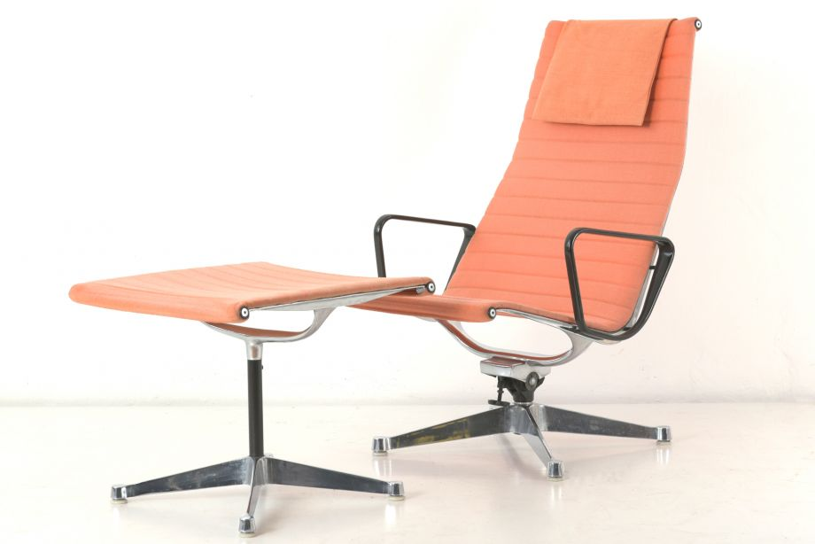 LOUNGE CHAIR EA124 and OTTOMAN - EA 125 - CHARLES EAMES - MILLER/VITRA - SWITZERLAND - 1958
