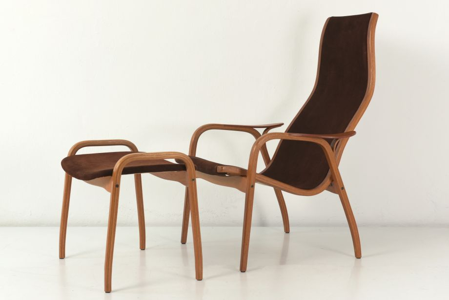 ARMCHAIR WITH FOOTREST - LAMINO - YNGVE EKSTROM - SVEDESE - SWEDEN - 1956