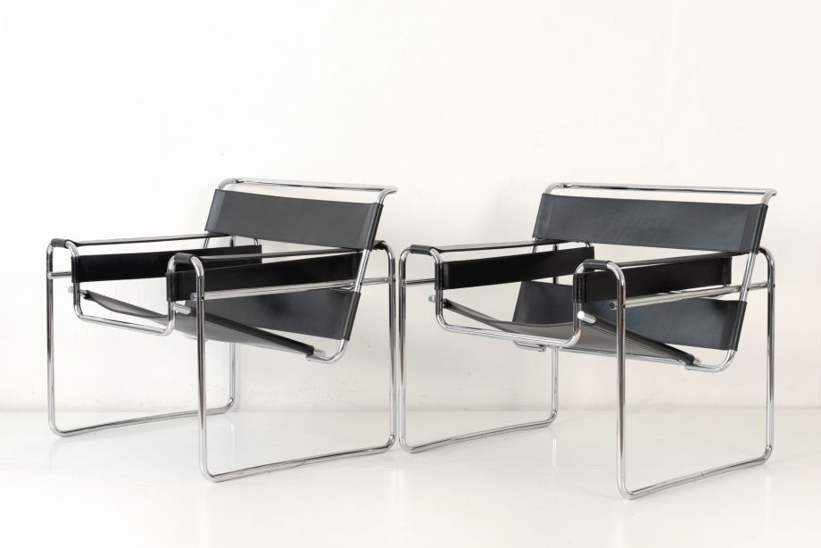 ARMCHAIR - WASSILY - DESIGN MARCEL BREUER AROUND 1925 - KNOLL INTERNATIONAL - GERMANY - AROUND 1985