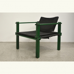 FARMER CHAIR - GERD LANGE - BOFINGER - GREEN/BLACK