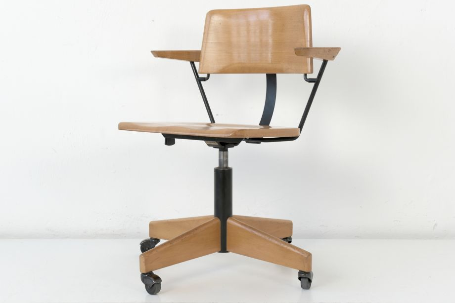 DESK CHAIR ON CASTERS - STOLL GIROFLEX - GERMANY - 1969