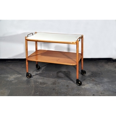 SERVING CART - CHERRY-WOOD