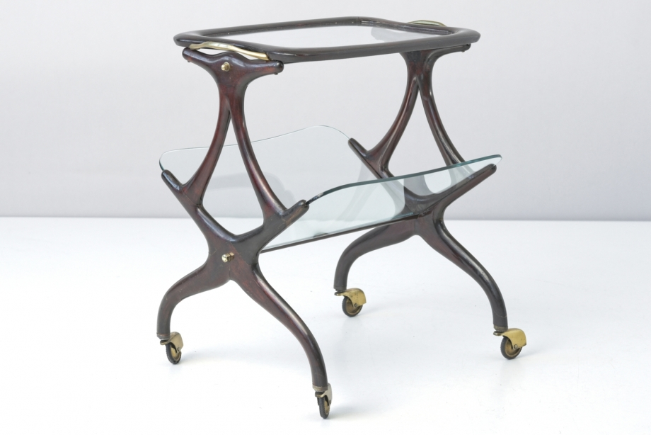 TABLE ON CASTORS - CESARE LACCA - CASSINA - ITALY - AROUND 1955