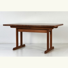 EXTENDING TABLE - SOLID - TEAK - DENMARK - AROUND 1975