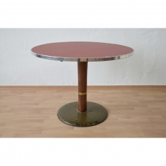 DINER TABLE - ROUND - RED - USA