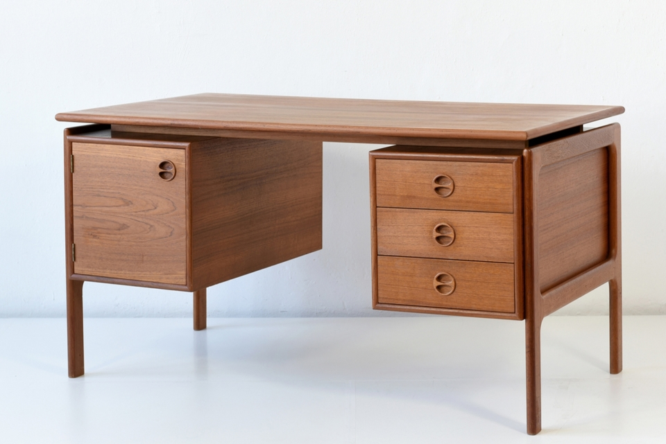 DESK - TEAK - G.V. - DENMARK - AROUND 1960