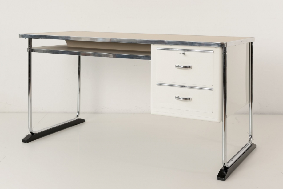 STEEL TUBE DESK - HANSEN - GERMANY - AROUND 1950