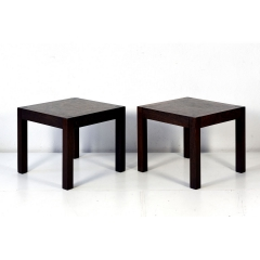 2 SIDE TABLES - CUBIC - WENGE - DIETER WAECKERLIN - SWITZERLAND - 1965