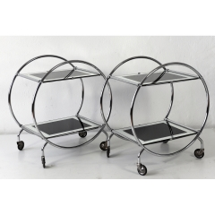 PAIR OF BAR CARTS - ENGLAND - AROUND 1940