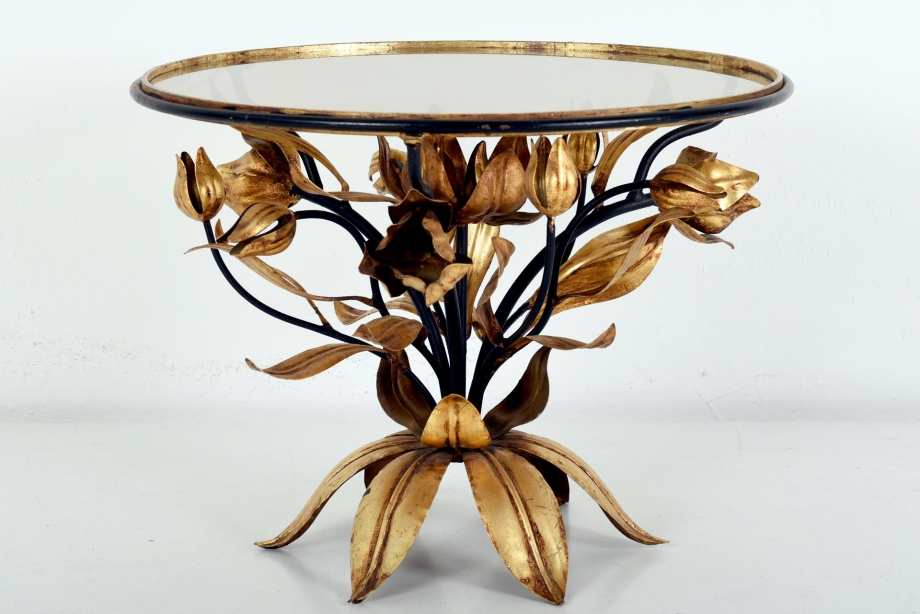 FLORAL SIDE TABLE - ITALY - AROUND 1960