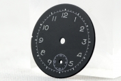 DIAL FOR WRISTWATCH - ROUND - BLACK - WITH A SMALL SECOND - GERMANY - AROUND 1940
